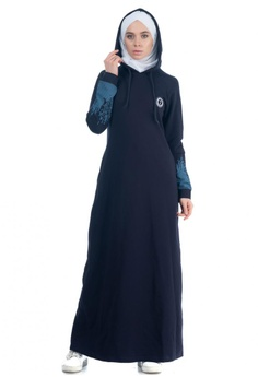 1bd41311bd48 Bakka Clothing blue and navy Navy Hooded Jilbab 9B689AAA4F8FCDGS_1