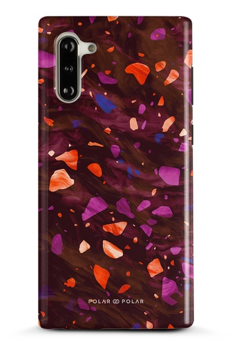 Polar Polar red Paprika Terrazzo Gem Dual-Layer Tough Case Glossy For Samsung Galaxy Note10 3A10AAC16C2437GS_1