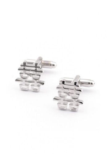 Kings Collection silver Double Happiness Cufflinks AC1DBACD0F0B17GS_1