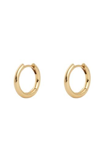 Wanderlust + Co gold Classic Gold 10mm Huggie Earrings E58ECACA545A6CGS_1