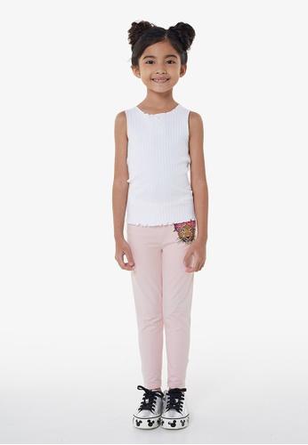 Gen Woo pink Leopard Embroidered Legging By Gen Woo 7F050KA5A749A8GS_1