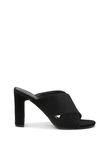 London Rag black Black High Heel Velvet Sandal SH1498 320C8SH072CA54GS_1