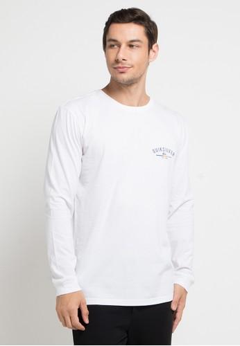 Quiksilver white Simple Colour Long Sleeve T-Shirt 6663CAAB3DFEF2GS_1