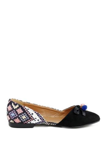London Rag 黑色 多色芭蕾舞鞋 34FDFSH567C7B4GS_1