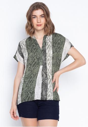 f0e68e1c2fef Shop DEBENHAMS Principles - Striped Snake Print Shirt Online on ZALORA  Philippines