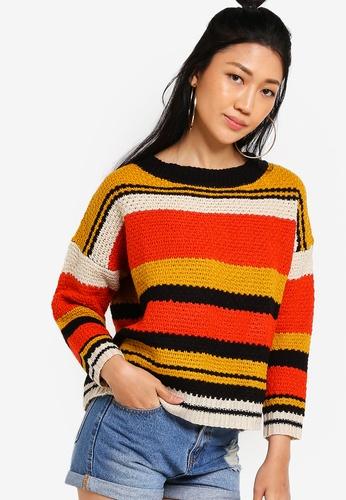Something Borrowed multi Block Striped Knit Sweater 66EE1AAE44F673GS_1
