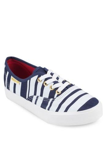 esprit hk分店條紋厚底膠底布鞋, 女鞋, 鞋