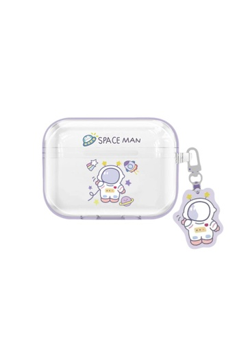 Kings Collection white Cartoon Astronaut AirPods Pro Case (UPKCAC2149P) C4297AC2215135GS_1
