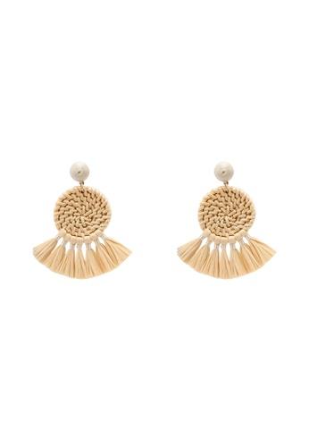 ALDO beige Peterstal Pierced Earrings F991FAC788FA73GS_1