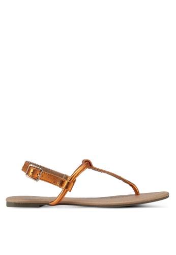 Rubi orange Everyday Simple Toe Post Sandals 1258DSH8D67FBFGS_1