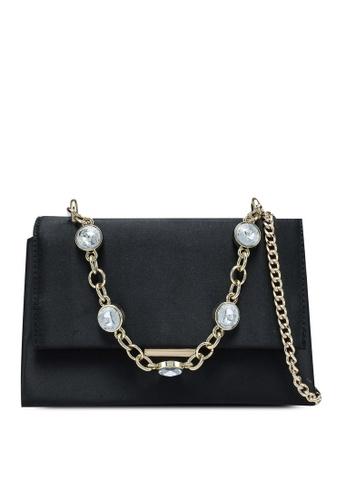 Forever New black Beatrice Gem Chain Crossbody Bag A9FD8AC6994B85GS_1