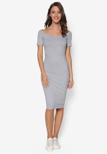 平口露esprit 品牌肩修身連身裙, 服飾, 洋裝