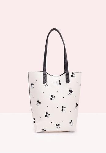 Elisa Litz black and white MICKEY POLKADOTS REVERSIBLE TOTE BAG - WHITE AND BLACK 37DF7ACA33A45BGS_1