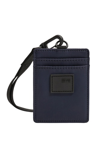 Mango Man blue and navy Hanging Nylon Card Holder 12713AC10FC7EDGS_1