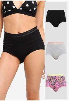baa8b7736c90 Cotton On Body multi Sporty Femme High Waist Boyleg Briefs 3 Pack  198D0USD955F50GS_1
