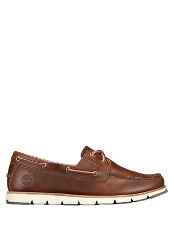 Timberland brown Camden Falls Full-Grain Boat Shoes 7FFA9SH7ECB614GS_1