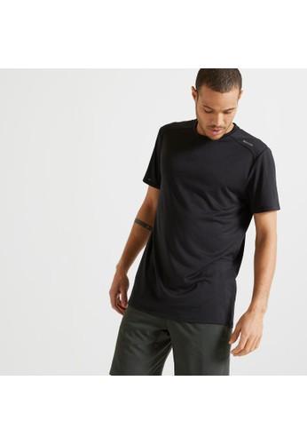 Decathlon DOMYOS Technical Fitness T-Shirt - Black - 8603265 01380AAD0048C7GS_1