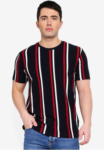 e5e539dddb Buy Topman Navy Striped T-Shirt Online on ZALORA Singapore