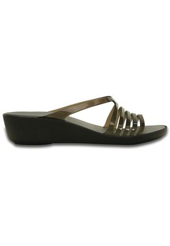 eae0d35b66cf6d Crocs black Women s Crocs Isabella Mini Wedge Black Smoke CR883SH35VFWMY 1