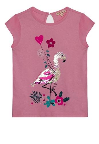 Du Pareil Au Même (DPAM) pink Graphic T-shirt 71FD1KA980D13EGS_1