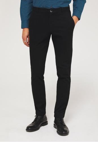 Sisley black Slim fit Trousers 40624AA5E2B96CGS_1