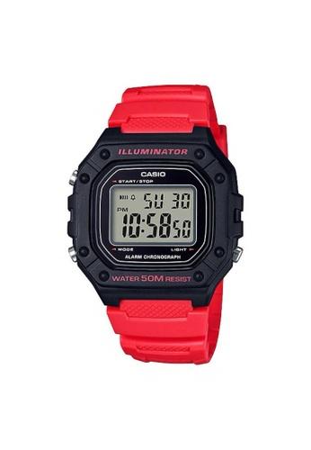 Casio red CASIO GENERAL W-218H-4BVDF UNISEX'S WATCH 8F981AC7F18AD6GS_1