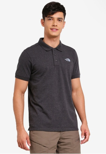 The North Face grey TNF M S/S Logo Polo - Ap TNF Dark Grey Heather 61C35AAB3DC55FGS_1