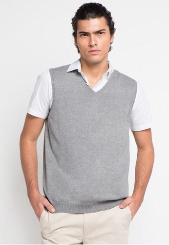 Noir Sur Blanc grey Mens Vest NO321AA0UCTKID_1