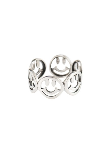 A-Excellence silver Premium S925 Sliver Smiley Ring 61225AC5777C01GS_1