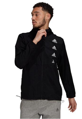 ADIDAS black adidas essentials gradient logo windbreaker 7F7EAAAF8FA155GS_1