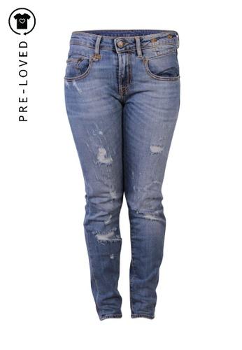 R13 blue Pre-Loved r13 Distressed Skinny Jeans Blue 8D9D3AADF77841GS_1