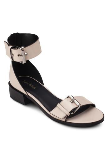 雙扣環繞踝平底涼zalora鞋鞋, 女鞋, 低跟