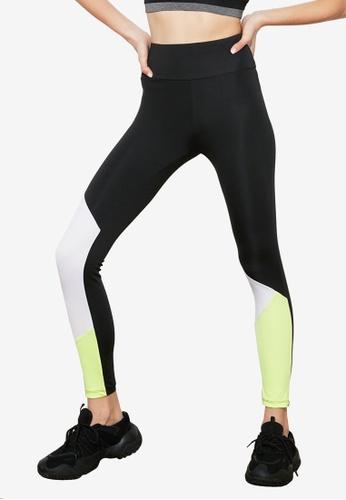 Trendyol black Colorblock Sports Leggings FECC2AA1463580GS_1