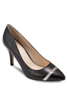 Metallic Strip Pointed Pump Heels