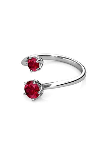 Her Jewellery red Her Jewellery Birth Stone Ring (January) - Embellished with Crystals from Swarovski® CF83FACDC6EE5DGS_1