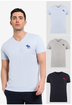 ee4e3b2b791 Abercrombie   Fitch blue Exploded V-Neck Multipack T-Shirts  D5348AA3E64271GS 1