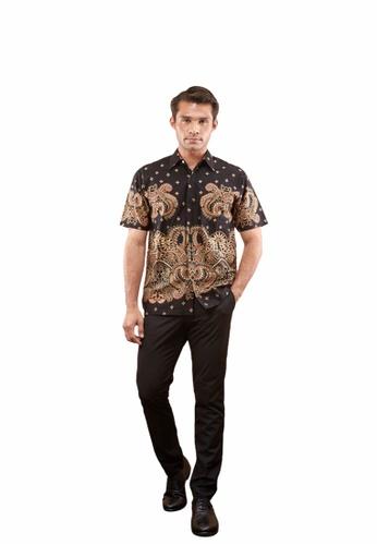 TUSCA black Eusoff Classic Batik Shirt 78CBFAACF79308GS_1