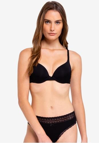 Cotton On Body black Cindy Lace Push Up Bra C224EUS2816862GS_1