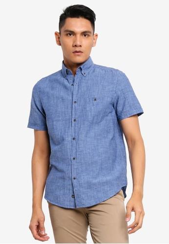 LC Waikiki blue Regular Fit Linen Blend Shirt 50320AAF46EA5DGS_1