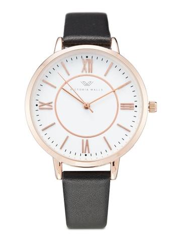 Victoria Walls Watches black Designer Watch-Elegant Leather Strap 36399ACEA06428GS_1