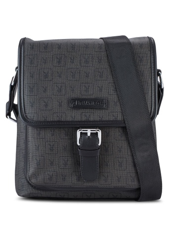 Playboy black Playboy Messenger Bag PL371AC52WHBMY_1