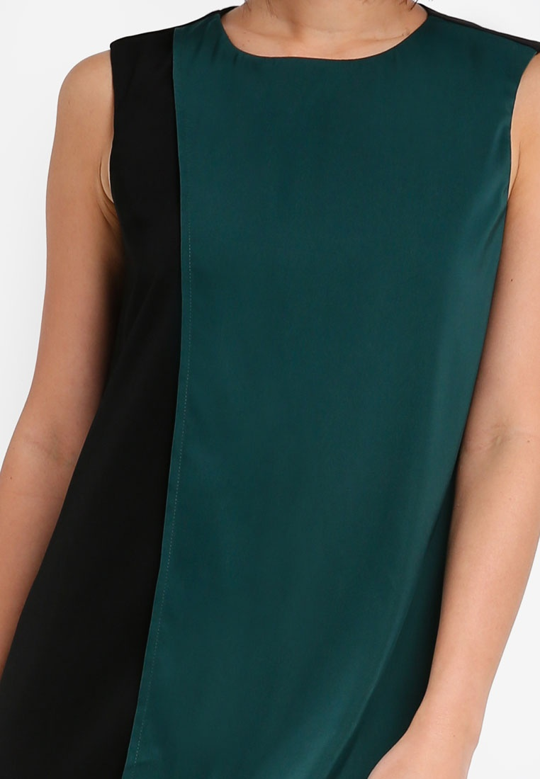 Black with Dress Green Midi ZALORA Colorblock 5IqXvI