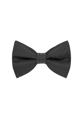 Buckle black Grid Bow Tie with Pocket Hanky B240FAC7C36177GS_1