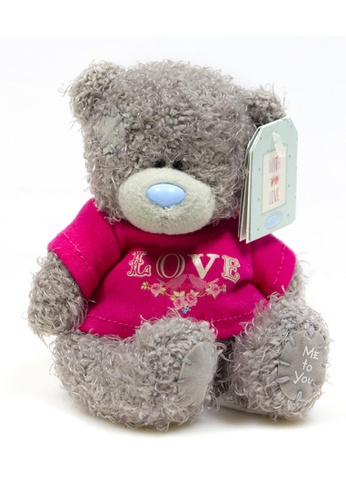"Her Jewellery Me to You Plush Toys -  4"" Tatty Teddy - T-Shirt Love 86742TH6738FB0GS_1"