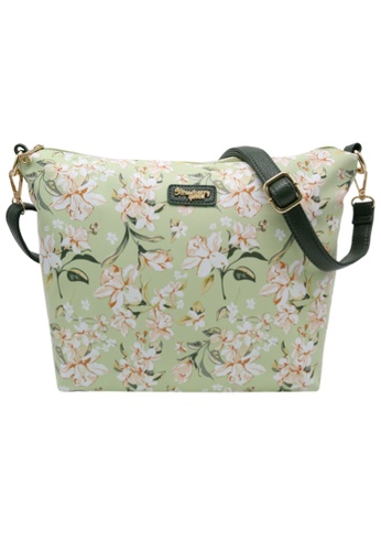 STRAWBERRY QUEEN 綠色 Strawberry Queen Flamingo Sling Bag (Floral AM, Green) B2282ACF543527GS_1
