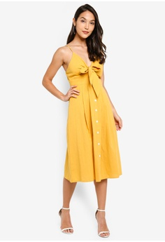 4c727ee049d49 40% OFF MISSGUIDED Tie Front Button Down Midi Dress S$ 54.90 NOW S$ 32.70  Sizes 6 8 10 12 14