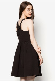 Jo Jo Cross Back Bow Dresss