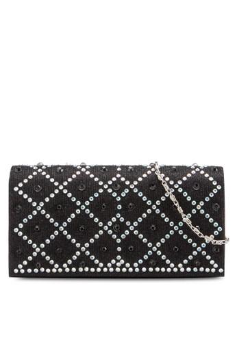 閃飾菱格紋翻蓋手拿包、 包、 包Unisa閃飾菱格紋翻蓋手拿包最新折價