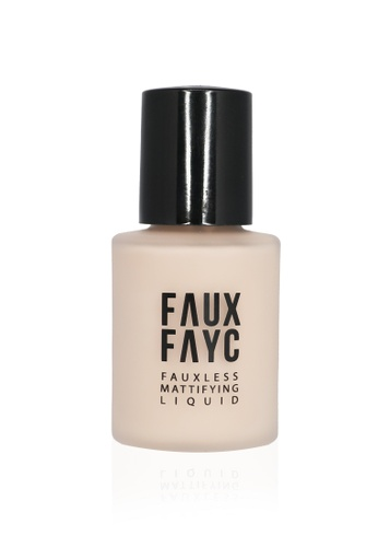 Faux Fayc beige Fauxless Mattifying Liquid Foundation - Bleach FA334BE86SENSG_1
