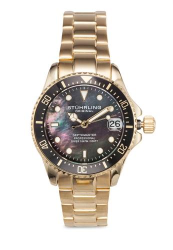 Stuhrling Original gold Aquadiver 3950L Watch 440A5AC18DA969GS_1